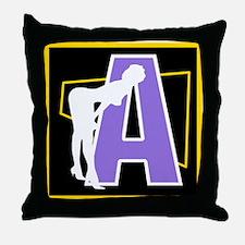 Naughty Initial Design (A) Throw Pillow