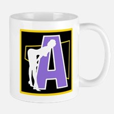 Naughty Initial Design (A) Mugs