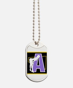 Naughty Initial Design (A) Dog Tags
