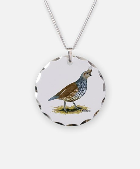 Texas Scaled Quail Necklace