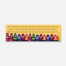Cute Teacher peace Car Magnet 10 x 3