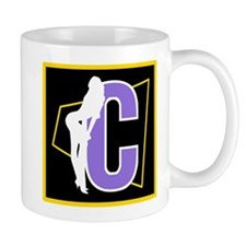 Naughty Initial Design (C) Mugs