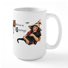 Happy Halloween Card with Cat Mug