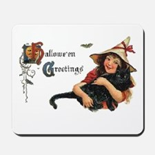 Happy Halloween Card with Cat Mousepad