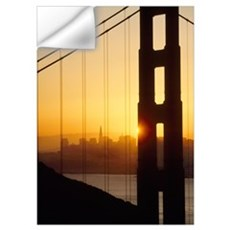 Sunrise Behind The Golden Gate Bridge; San Francis Wall Decal