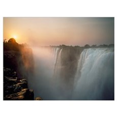Victoria Falls At Dusk; Zimbabwe Canvas Art