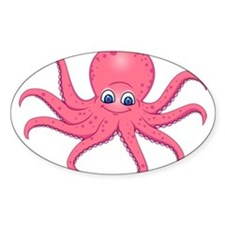 Cute Pink Octopus Decal