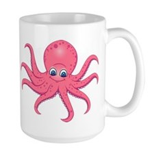 Cute Pink Octopus Mugs
