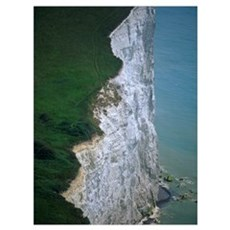 White Cliffs Of Dover, High Angle View Poster