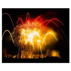 Fireworks At Philadelphia Museum Of Art, Philadelp Poster