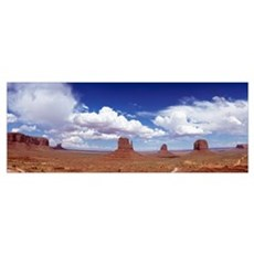 Glove Buttes And Clouds, Monument Valley, Utah Framed Print