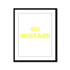 Go Mustard Framed Panel Print
