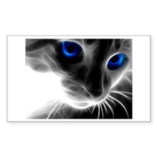 blue cats eyes Decal