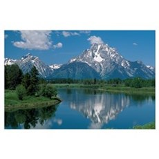 Mount Moran And Snake River, Grand Teton Mountains Poster