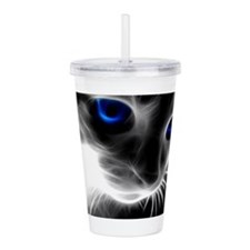 Cute Cat eyes Acrylic Double-wall Tumbler