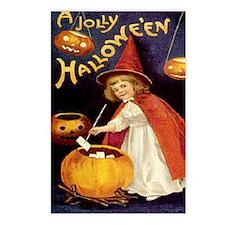 Halloween Greetings Vintage Girl Postcards (Packag