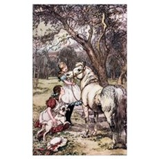 In The Orchard. Illustration From The Book Black B Framed Print