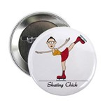 "Skating Chick 2.25"" Button (100 pack)"