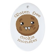 Gluten free Cookie monster cute brown biscuit Orna