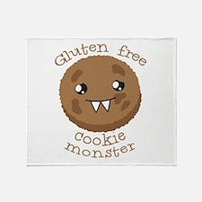Gluten free Cookie monster cute brown biscuit Thro