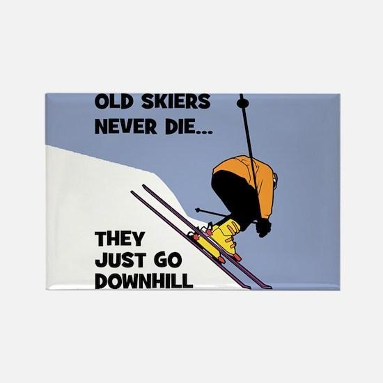 Old Skiers Never Die Magnets