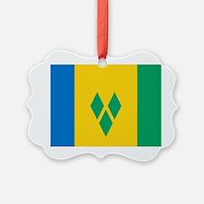 Saint Vincent Grenadines Flag Ornament