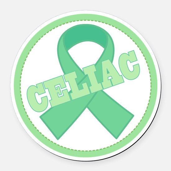 Celiac Disease Ribbon Round Car Magnet