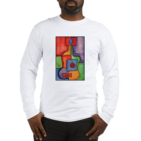 Colorful Guitar Long Sleeve T-Shirt