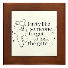 Party! Framed Tile