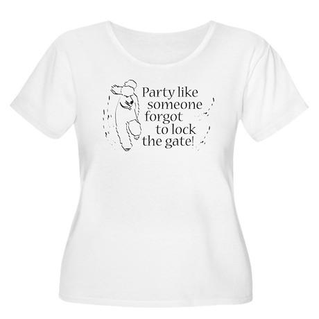 Party! Women's Plus Size Scoop Neck T-Shirt