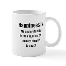Happiness - headed to a race Mugs