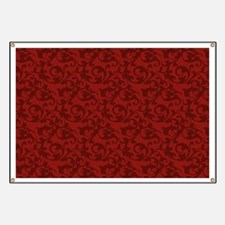Elegant Red Baroque Damask Banner