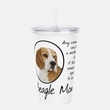 Beagle Mom Acrylic Double-Wall Tumbler