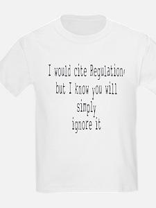 cite regulations aa T-Shirt