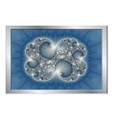 Blue fractal Postcards (Package of 8)