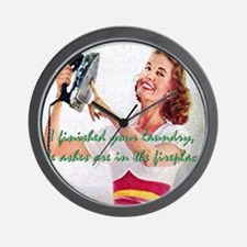 Unique Housewife Wall Clock