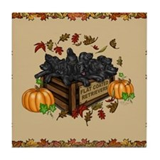 Cute Flat coat Tile Coaster