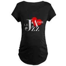 I love Jazz - J'aime Le Jazz Maternity T-Shirt