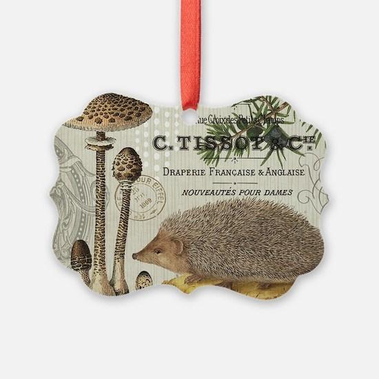 modern vintage woodland hedgehog Ornament