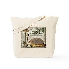 modern vintage woodland hedgehog Tote Bag