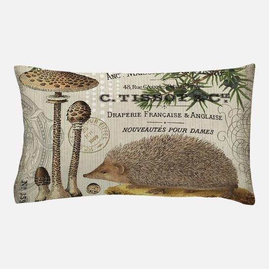 modern vintage woodland hedgehog Pillow Case