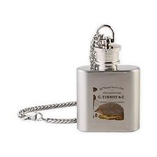 modern vintage woodland hedgehog Flask Necklace