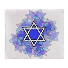 Cute Star of david Throw Blanket