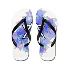 Unique Star david Flip Flops