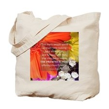 Flower - Quote Tote Bag