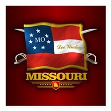 "Missouri DV Square Car Magnet 3"" x 3"""