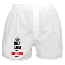 Keep calm and let a Dietitian handle  Boxer Shorts