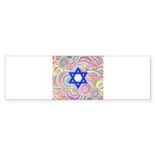 The Star of David and the Circles. Bumper Bumper Sticker