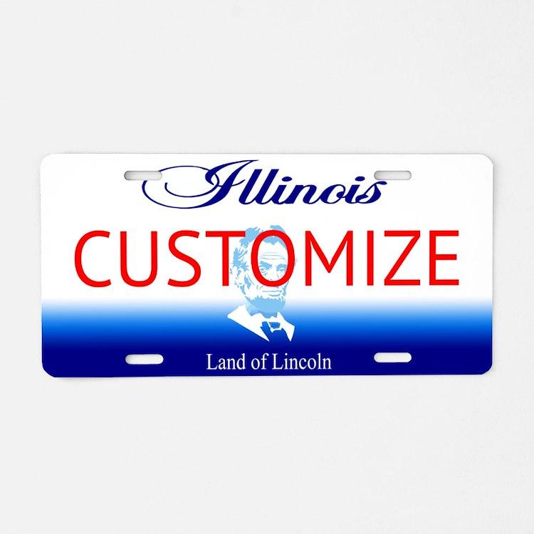 Illinois Custom Aluminum License Plate
