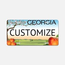 Georgia Custom Aluminum License Plate